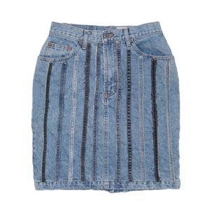 Reworked Gap Denim Skirt